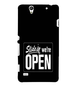 EPICCASE We're Open Mobile Back Case Cover For Sony Xperia C4 (Designer Case)