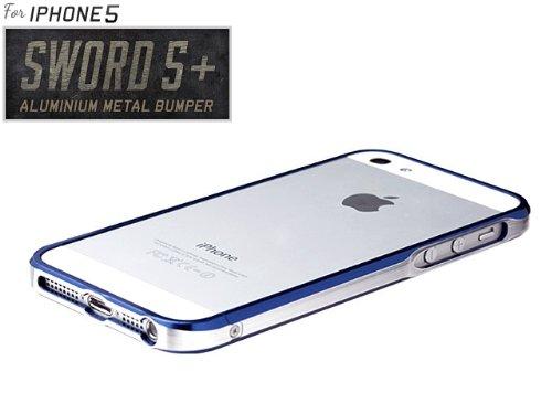【iPhone5 バンパー】【SWORD5+正規品】 iPhone5専用 SWORD5+ アルミバンパー インディゴ・ブルー
