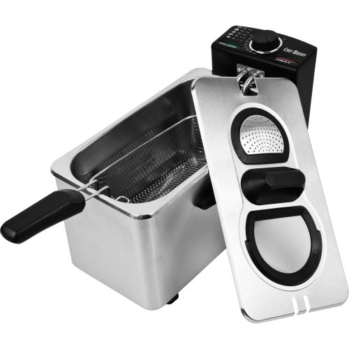 Chef Buddy Stainless Steel Electric Deep Fryer,
