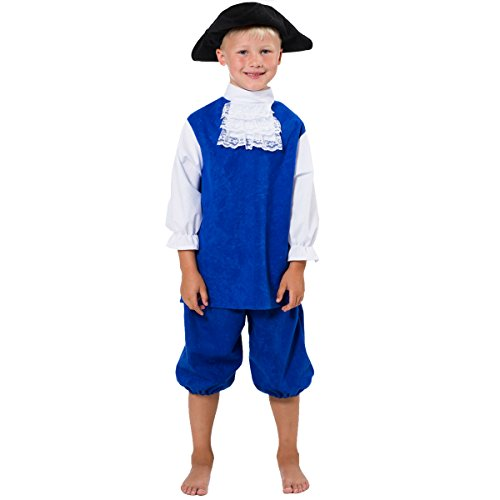 Blue Coat Costume for Kids 8-10 Years