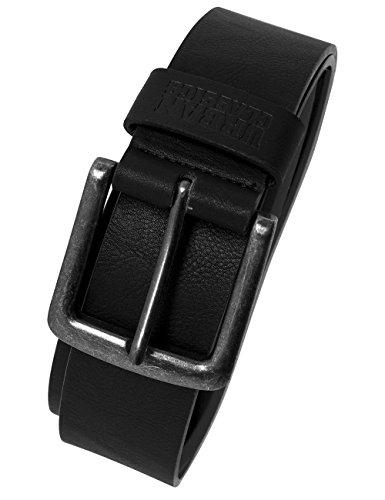 Urban Classics Unisex Gürtel Leather Imitation Belt, Schwarz (Black 7), 95 cm (Herstellergröße: M)