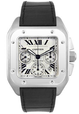 Cartier Men's W20090X8 Santos 100 XL Automatic Chronograph Watch