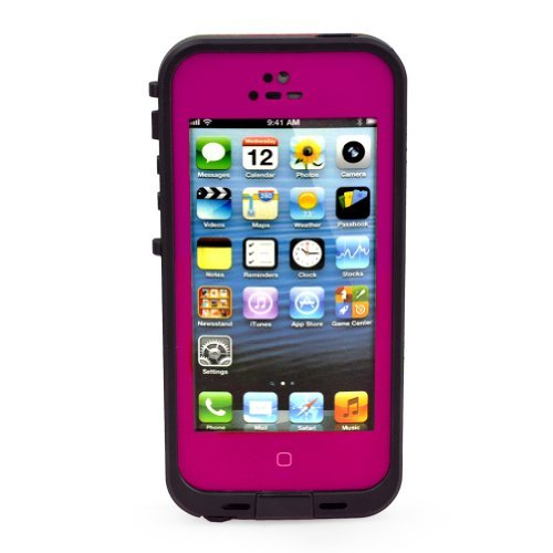 New Waterproof Shockproof Dirtproof Snowproof Protection Case Cover For Apple Iphone 5 (Rose Red) (Liue7)