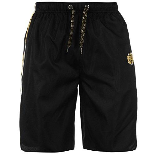 Everlast-palestra breve leggero estate pantaloni Casual Abbigliamento Sportivo Black/yellow L