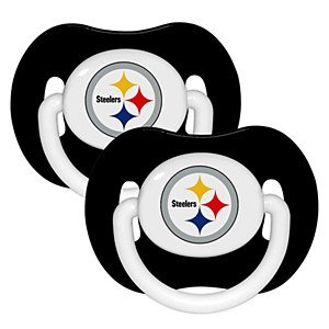 Pittsburgh Steelers NFL Baby Pacifiers (2 Pack) from Baby Fanatic