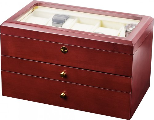 Auer Accessories Gaia 425CM Watch Box For 25 Watches Cherry Wood (matt)