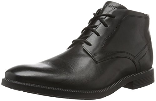 RockportDressport Modern Chukka - Stivaletti uomo , Nero (Nero (Black Leather)), 44.5