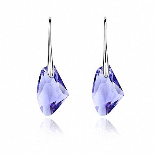 TAOTAOHAS donna elementi di swarovski cristallo ciondoli orecchino di goccia [ hard rock, tanzanite ], 18KGP Rhinestone
