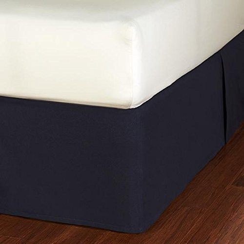Fresh Air Bedskirt, King, Navy front-26845