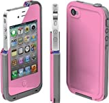 COCO FUN Waterproof Protection Case Cover For Apple iPhone 4/4S - (Multi Color) - Pink