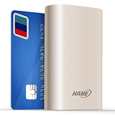 Hame H16 11000mah Ultra Compact External Battery Portable USB Charger Power Bank,for Iphone 6 5s 5c 5, Ipad Air Mini, Galaxy S5 S4, Tab 2, Note 3 4, Lg G3, Nexus, HTC One M8, Moto X by HAME