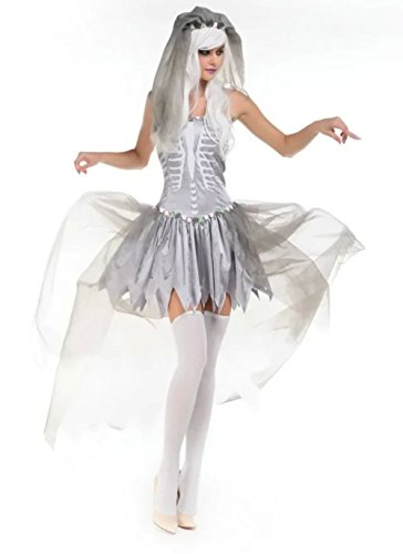 DoLoveY Halloween Ghost Bride Costumes For Women Witch Cosplay Dress