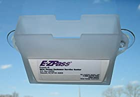 EZ Pass Toll Tag Holder,Fits New & Old Transponder,i-Pass,i-Zoom, Black