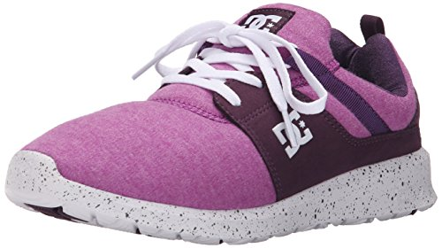 DC Women's Heathrow SE Skate Shoe, Purple, 5 M US