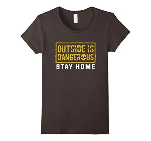 Womens-EmmaSaying-Outside-Is-Dangerous-Skull-Design-Cool-T-Shirt-Asphalt