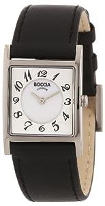 Boccia B3163-03 Ladies Titanium Black Strap Watch