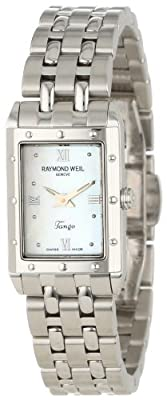 Raymond Weil Women's 5971-ST-00915 Tango Rectangular Steel Mother-Of-Pearl Dial Watch
