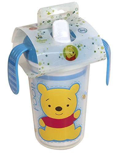 Disney Winnie The Pooh Double Wall Sippy Cup with Handles, Blue