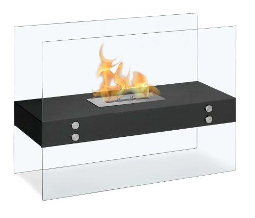 Ignis Vitrum H Black Freestanding Ventless Ethanol Fireplace image B00AMO8P6U.jpg