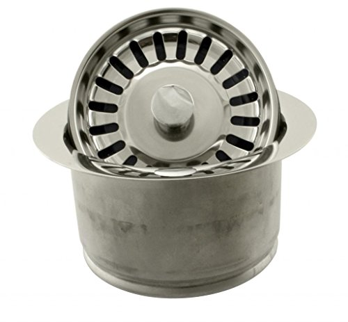 Westbrass D2082S-05 Extra Deep ISE Disposal Flange and Strainer, Polished Nickel