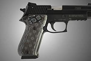 Buy Hogue SIG Sauer P220 SAO American Checkered G-10 - G-Mascus Black Gray 21157-BLKGRY by Hogue