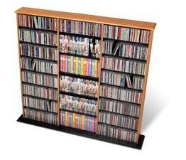Prepac Oak Triple Width Wall Media (DVD,CD,Games) Storage Rack from Prepac