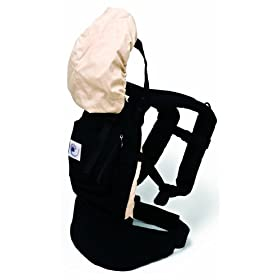 Ergo Baby Carrier Black with Camel Lining