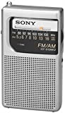 New Sony Portable AM/FM Pocket Radio Built In Speaker Earphone Jack LED Tuning Indicator