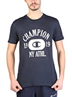 Champion Camiseta Manga Corta (Azul Oscuro / Blanco)