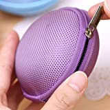 Domire Carrying Hard Case Bag for Earphone Headphone Purple