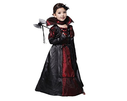 [Toddler Halloween Costumes for Girls Vampire Costume Halloween Toddler Girl 6-8y] (Toddler Vampire Halloween Costumes)