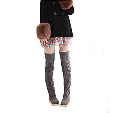 Damenmode flachen boden stiefel schuhe ber das knie hohe for Damenmode boden