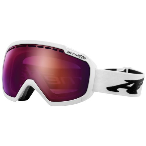 Arnette Polished Adult Skylight Snow Snowmobile Goggles Eyewear - White/Raspberry Ice Chrome / One Size Fits All