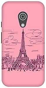 The Racoon Grip paris scribble pink hard plastic printed back case / cover for Moto G 2nd Gen