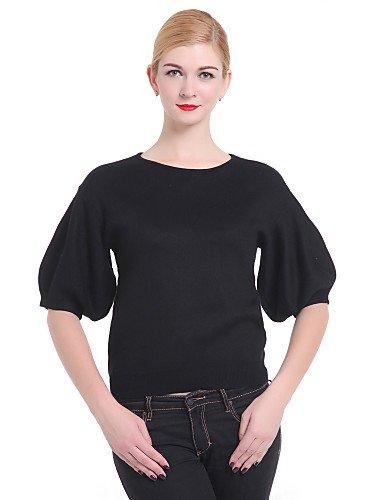 WXD Pullover da donna, colore: nero, Casual/Cute? Sleeve, black-one-size