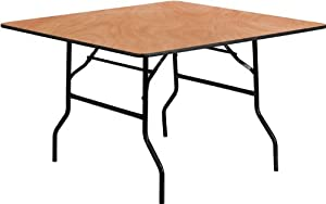 FlashFurniture YT-WFFT48-SQ-GG 48-Inch Square Wood Folding Banquet Table by Flash Furniture