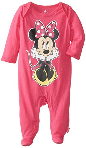 Disney Baby Girls Newborn Mickey Mouse Sleep N' Play, Pink, 6-9 Months front-1071795