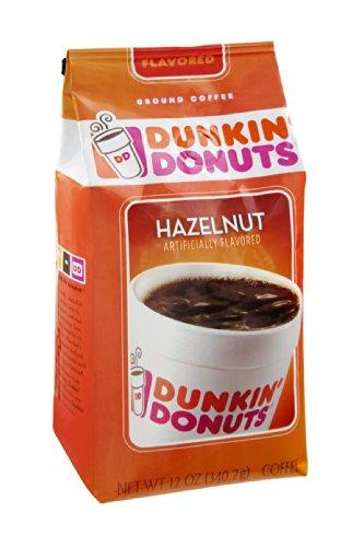 Dunkin' Donuts Hazelnut Ground Coffee 12 Oz (Pack Of 12)