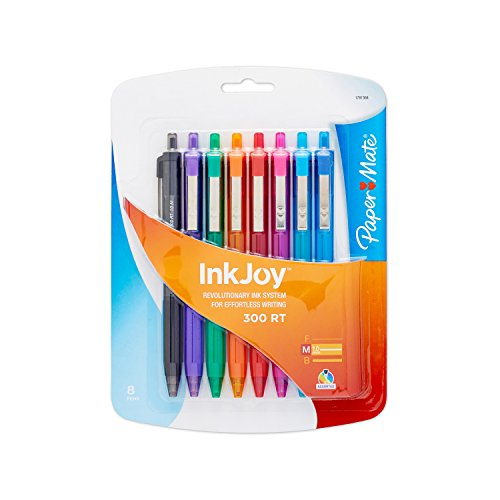 Paper Mate InkJoy Ballpoint Pen 1781564, Assorted Colors, 8-Pack