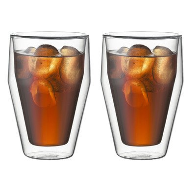 Cheapest Prices! Bodum Pilatus 2-Piece 12-Ounce Double Wall Glass, Medium, Clear