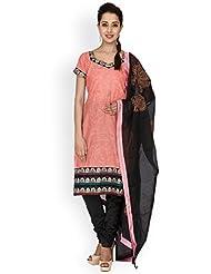 EQ Pink Colour Super Fine Cotton Cambric Salwar Suit.