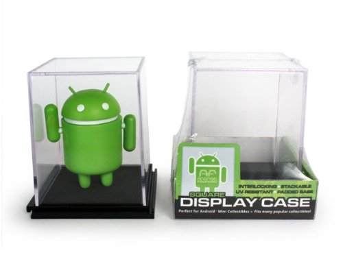 Single SQUARE Display Case (Interlocking, Stackable, UV-Resistant, & Padded Base) - 1
