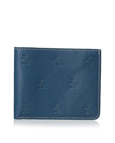 Original Penguin Men's Embossed Logo Wallet, Blue Sapphire