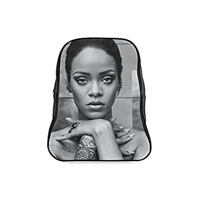 DOROT Classic Famous Female Singer Rihanna Logo Children School High-grade PU Leather Backpack Bag Shoulder Bag