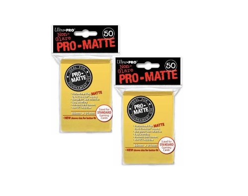 Ultra Pro PRO-MATTE (100 Count) Yellow Deck Protector Sleeves - Magic the Gathering