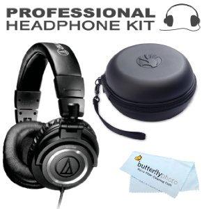 Audio-Technica ATH-M50S Professional Studio Monitor Headphones ( earphone )-with Straight Cable BONUS Slappa SL-HP-01 headphones ( earphone ) Case [parallel import goods]