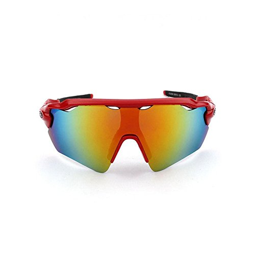 Rock-Crystal788®Outdoor sports cycling glasses, sun glasses, sand-proof glasses, safety goggle, eyes protector (Red, Red) Depression Carnival Glass