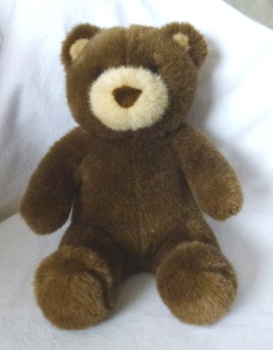 "Build a Bear Workshop Brown Teddy Bear Plush Tan Nose and Ears - 15"" Tall - 1"