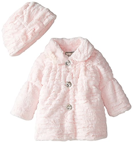 Home > Clothing & Accessories > Girls' Clothing (Newborn - 4T) > Girls' Coats & Jackets Complete your little fashionista's ensemble with the stylish Faux Fur Shrug from Bonnie Baby. Designed with high-quality polyester and an easy button closure, this shrug pairs perfectly with a coordinating dress for a sweet head-to-toe look.