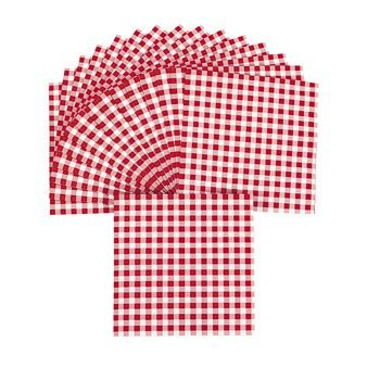Red Gingham Luncheon Napkins - Tableware & Napkins (Red Tableware compare prices)